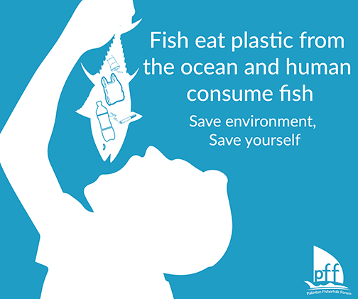 Pakistan FisherFolk Forum | Fish eat plastic from the ocean and human consume fish